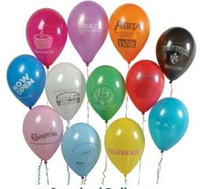 "Picture of Helium Balloons 11"" Latex Imprinted"