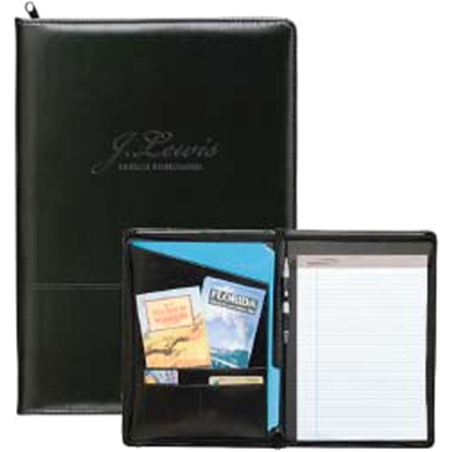 Picture of Script Zippered Padfolio
