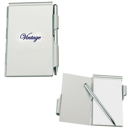 Picture of Aluminum Jotter Pad with Pen