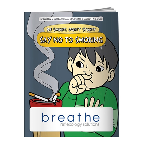 Custom Promotional Coloring Book: Say NO to Smoking Personalized ...