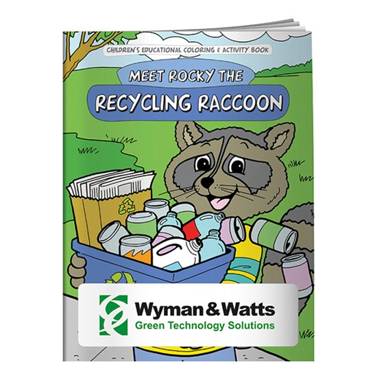 Custom Promotional Coloring Book: Meet Rocky the Recycling Raccoon ...