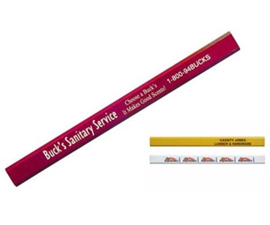 Picture of Hard Lead Enamel Finish Carpenter Pencils
