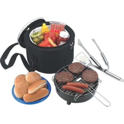 Picture of Koozie(R) Portable BBQ With Cooler Bag