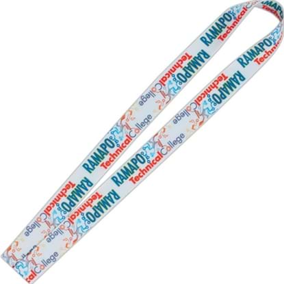 "Picture of 3/4"" Fine Print Lanyard - Good Value (R)"