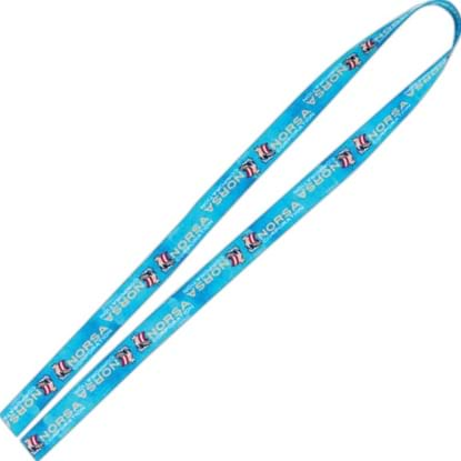 "Picture of 1"" Fine Print Lanyard - Good Value (R)"