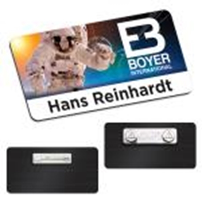 "Picture of 3"" x 1-1/2"" Name Tag"