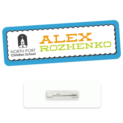 "Picture of 3"" x 1"" Economy Name Tag - Good Value (R)"