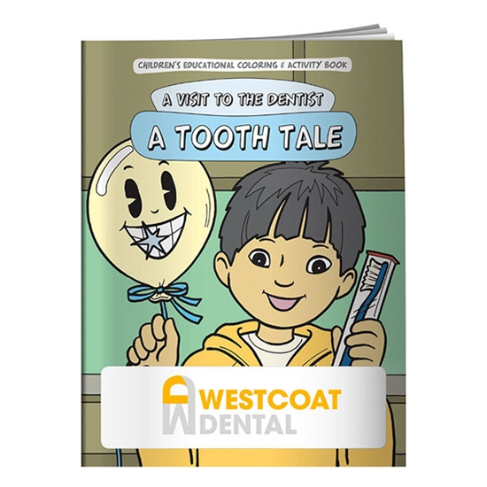 Custom Promotional Coloring Book: A Tooth Tale Personalized with ...
