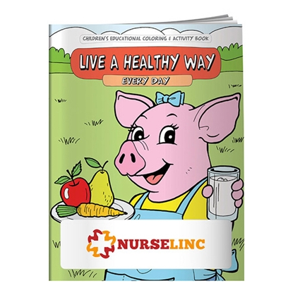 Picture of Coloring Book: Live a Healthy Way Every Day