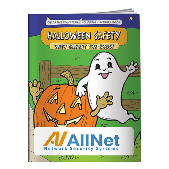 Custom Promotional Coloring Book: Halloween Safety Personalized with ...