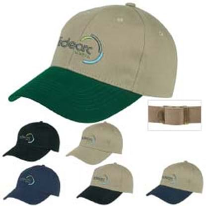 Picture of 6-Panel Brushed Twill Cap