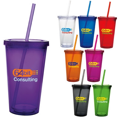 Picture of Double Wall Acrylic Tumbler - 18 oz