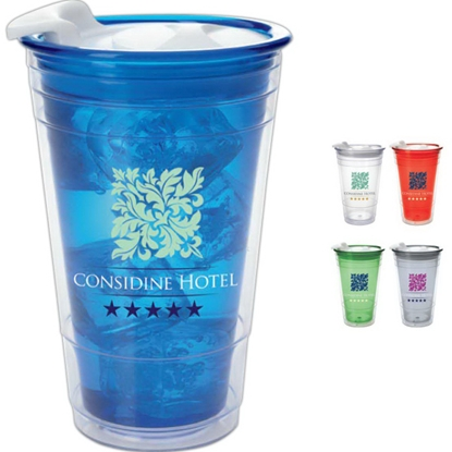 Picture of Double Wall Party Cup with Lid - 16 oz.