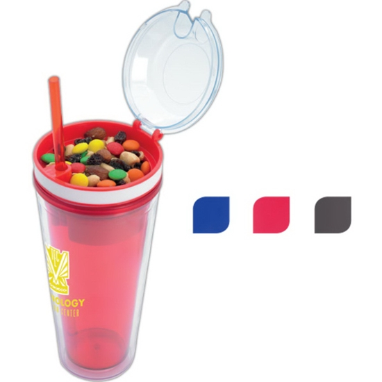 Picture of 18 oz. Snack N Sip Tumbler