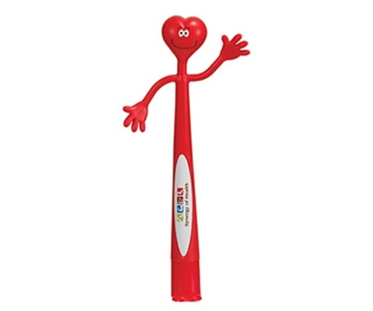 Picture of Heart Bend-A-Pen Full Color