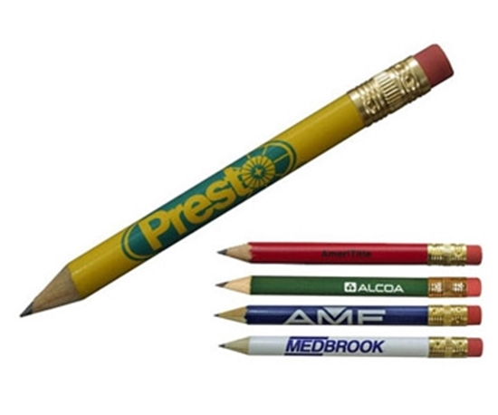 Picture of Round Golf Pencils With Erasers