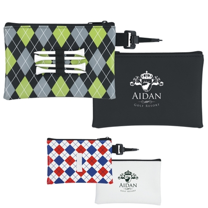 Picture of Pattern Golf Tee Pouch - Good Value (R)