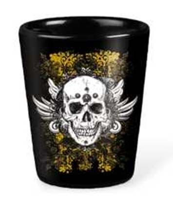 Picture of 2 Oz. Black Ceramic Shot Glasses