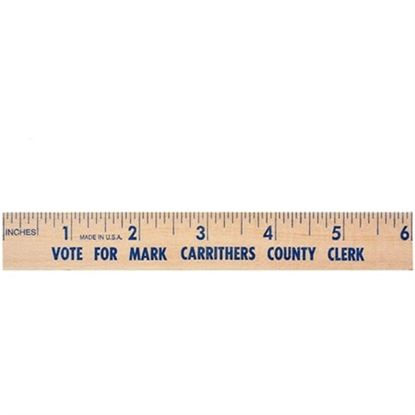 "Picture of 6"" Natural Finish Flat Wood Rulers"