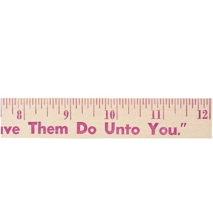"""Picture of 12"""" Natural Finish Flat Wood Rulers"""