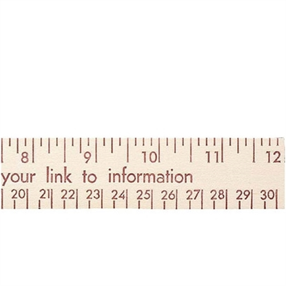 "Picture of 12"" Natural Finish Flat Wood Rulers - English & Metric Scale"