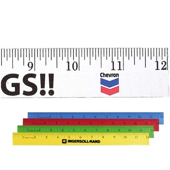 """Picture of 12"""" Enamel Flat Wood Rulers"""