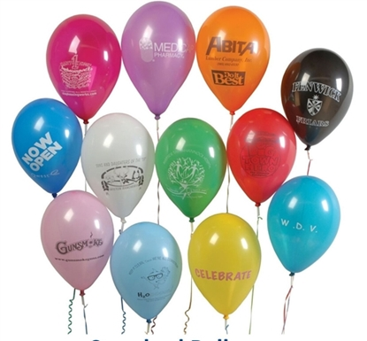 "Picture of Helium Balloons 9"" Latex Imprinted"