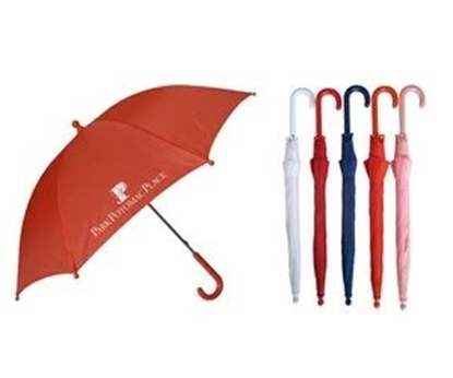 "Picture of Solid Color Manual Open Kid's Umbrella (34"" Arc)"