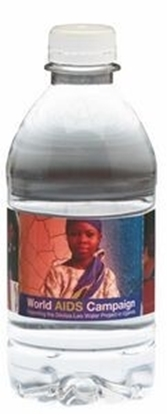 Picture of 12 Oz. Custom Labeled Bottled Water w/ Flat Cap