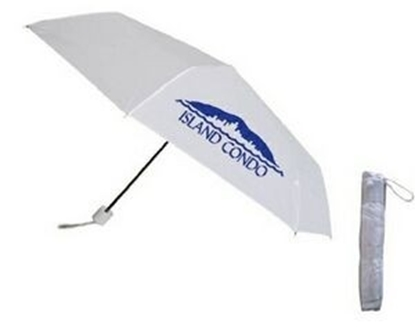 "Picture of White Mini Folding Umbrella (42"" Arc)"