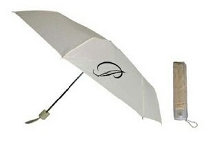 "Picture of Ivory Mini Folding Umbrella (42"" Arc)"