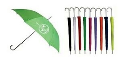 "Picture of Sleek Stick Umbrella w/ Hook Handle (46"" Arc)"