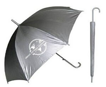 "Picture of Silver Sleek Stick Umbrella with Hook Handle (46"" Arc)"