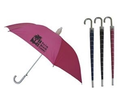 "Picture of No Drip Umbrella w/ Silver Plastic Handle (46"" Arc)"