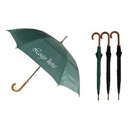"Picture of Wood Stick Umbrella with Vented Canopy (46"" Arc)"