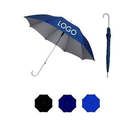 "Picture of Sleek Stick Umbrella w/ UV Coated Canopy (46"" Arc)"