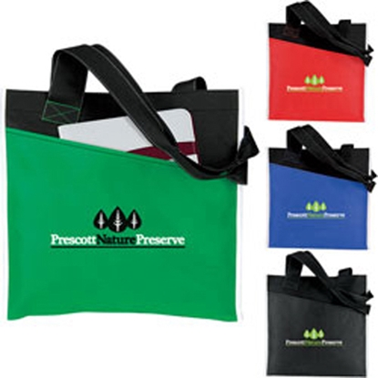 Picture of Angled Pocket Non Woven Tote