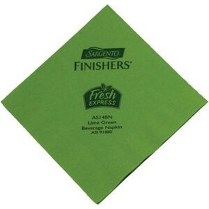 "Picture of 5"" X 5"" Lime Green 2-Ply Beverage Napkins"