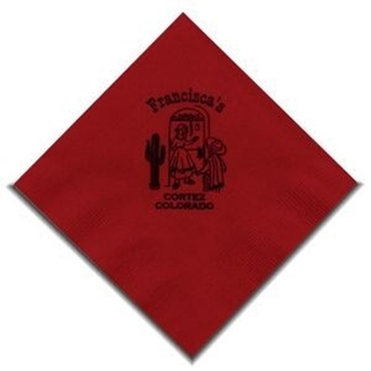 "Picture of 5"" X 5"" Red 2-Ply Beverage Napkins"