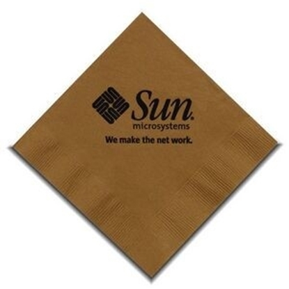 "Picture of 5"" X 5"" Gold 2-Ply Beverage Napkins"