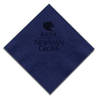 "Picture of 5"" X 5"" Navy Blue 2-Ply Beverage Napkins"