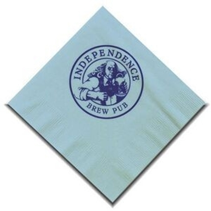 "Picture of 5"" X 5"" Light Blue 2-Ply Beverage Napkins"