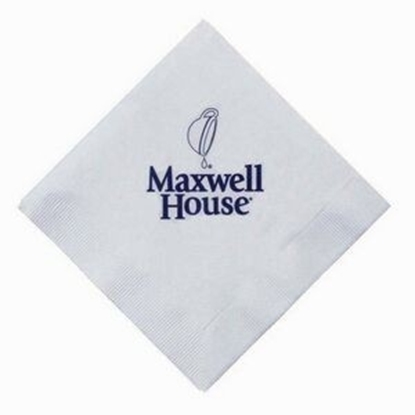 "Picture of 5"" X 5"" White 3-Ply Beverage Napkins"