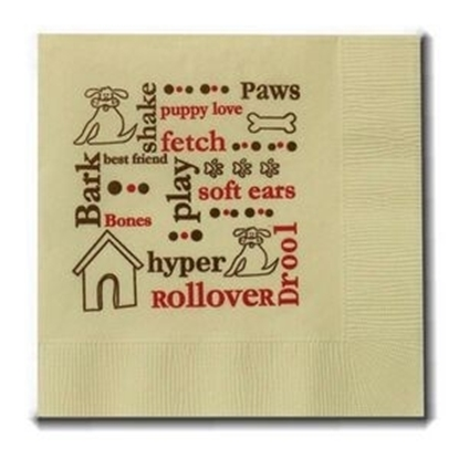 "Picture of 5"" X 5"" Beige 2-Ply Beverage Napkins"