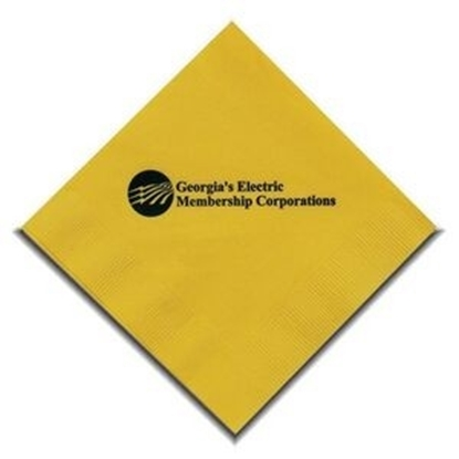 "Picture of 5"" X 5"" Yellow 2-Ply Beverage Napkins"