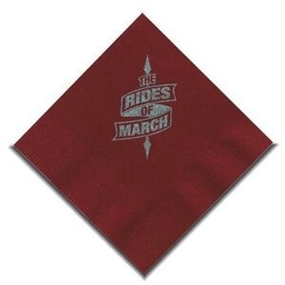 "Picture of 5"" X 5"" Burgundy 2-Ply Beverage Napkins"