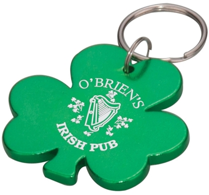 Picture of Aluminum Engraved Shamrock Shape Key Chain
