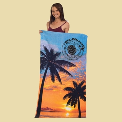 Picture of Stock Fiber Reactive Print Palm Beach Towels