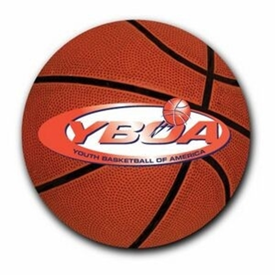 """Picture of 3"""" Round Basketball Car Magnets"""