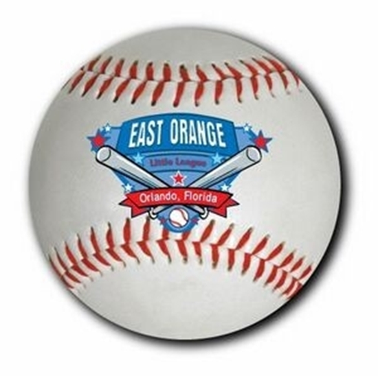 """Picture of 3"""" Round Baseball Car Magnets"""